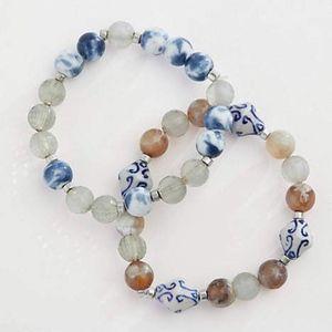 Summer Tides Painted-Ceramics Beaded Bracelet